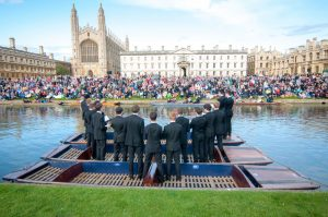 JMPS singing on river Cam